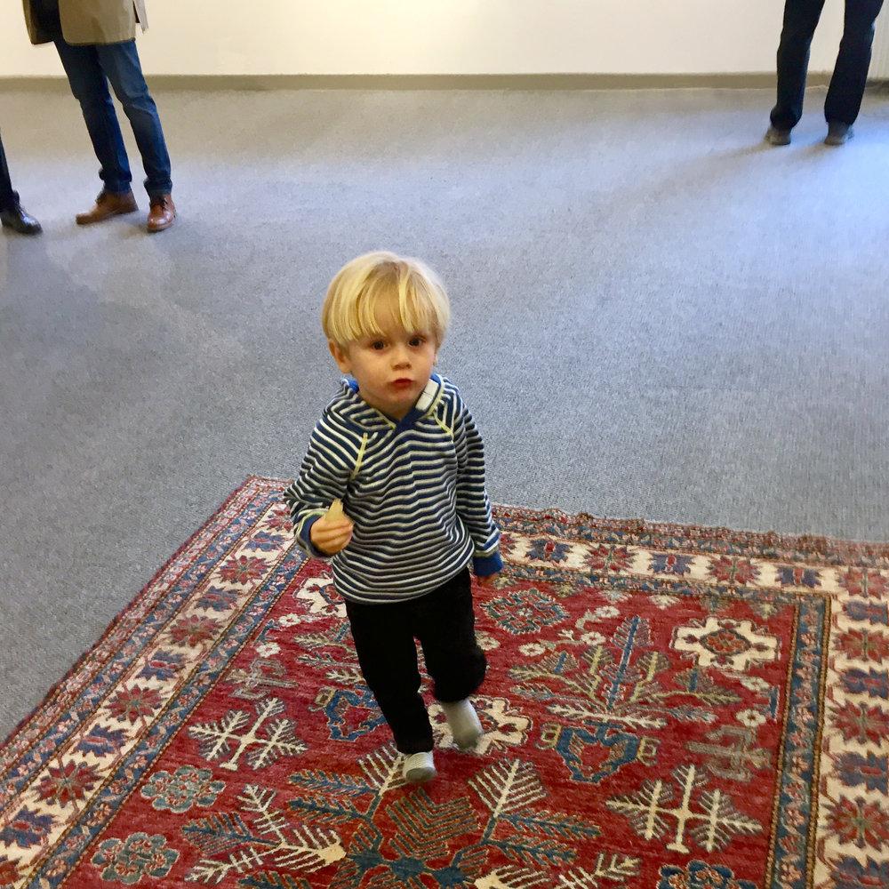 Oliver, yngste men gulligaste besökaren.