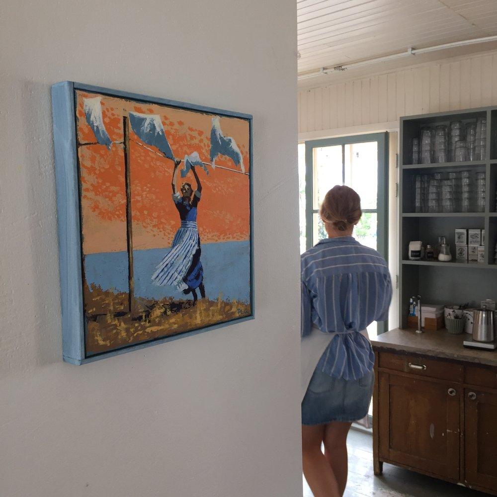 """""""Sommar"""", 30 x 30 cm, PLQ2018 Såld / Sold"""