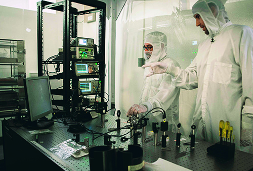 The CMS team working in a clean room