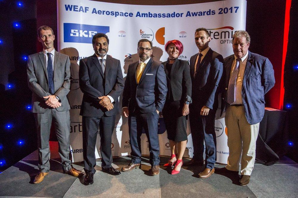 The Artemis Optical Team at the weaf awards 2017