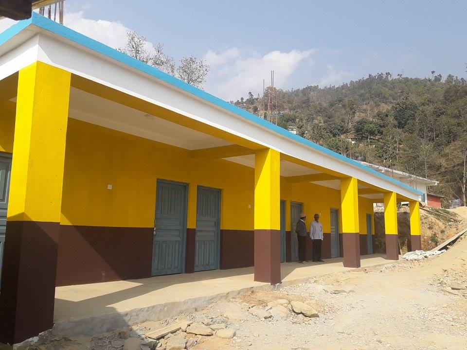 The New School In Laharepauwa, Nepal. Completed January 2017