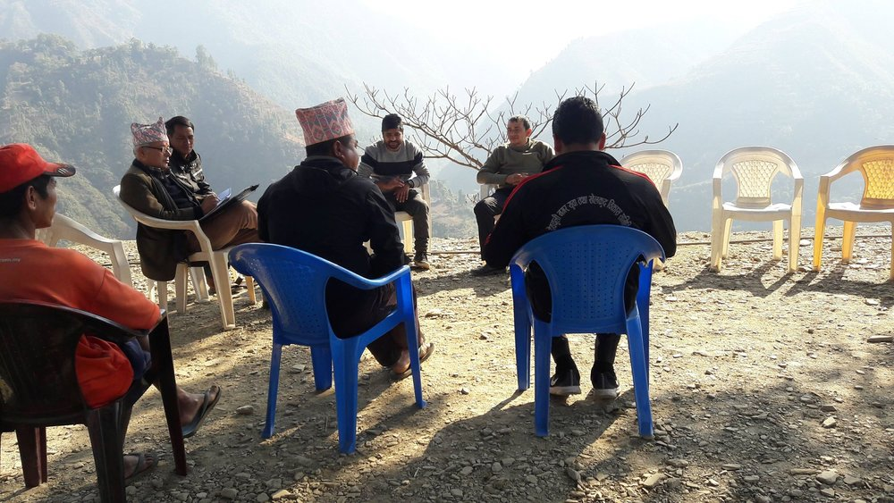 The team meeting at the site of our next project, Nawalparasi, Nepal.  More details to follow in the coming weeks.