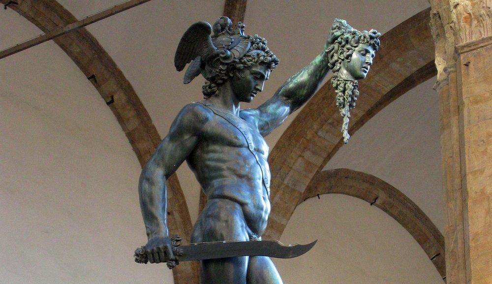Benvenuto Cellini's 1545 bronze sculpture of Perseus