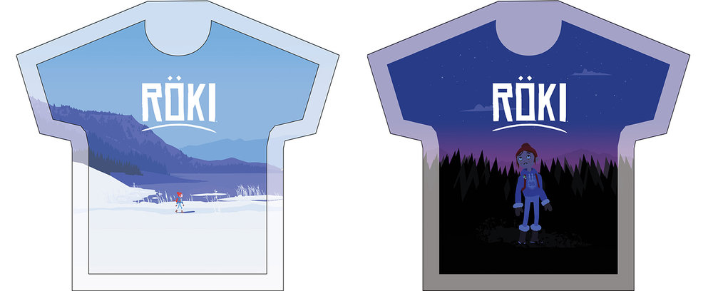 T-Shirts designs for Röki based off of our key art.