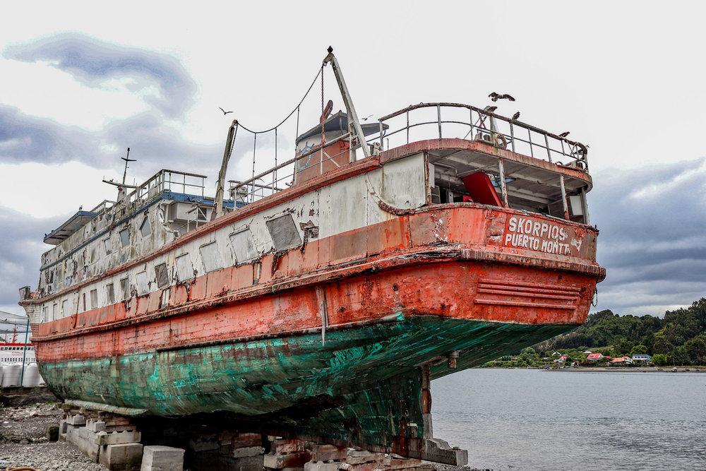 """""""Skorpios"""" heritage boat - shot while traveling around Puerto Montt, Chile (2018)"""