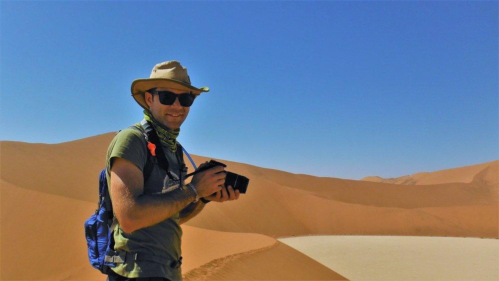 Snapping away in Sossusvlei, Namibia (2016)