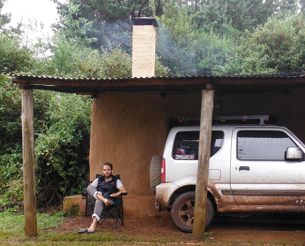 When I'm not busy with photography or tutoring, I love to explore in my Suzuki Jimny, or my with my Dad in his  Land Rover Defender travelling new routes, & taking in the scenery. I'm pictured here taking it easy after long drive, en route to beautiful Swaziland (2017)