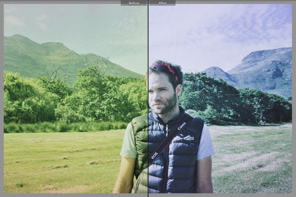Ken Treloar Cross Process Film Fix Preset Screenshot Before After