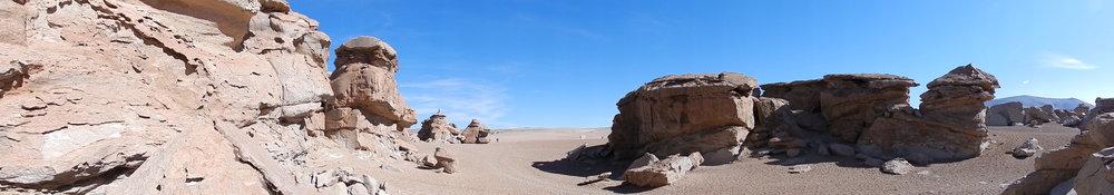 2012 - Path through the rock in the Salvador Dali Desert, Bolivia