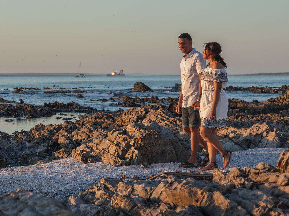 Sunset Couples Shoot - Sea Point Cape Town - photo by Ken Treloar Photography