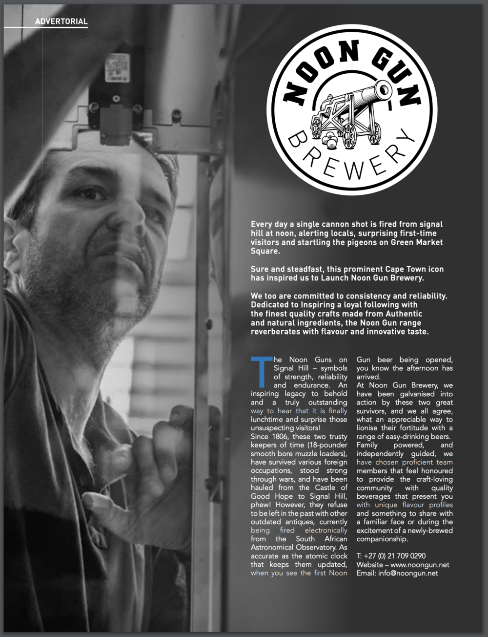 Noon Gun Brewery - Magazine Advertorial