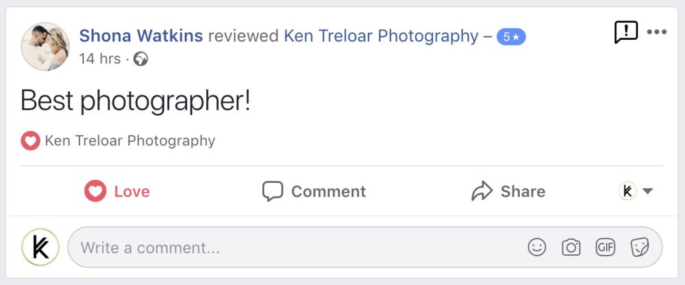 Ken Treloar Photography Review - Portrait Sessions