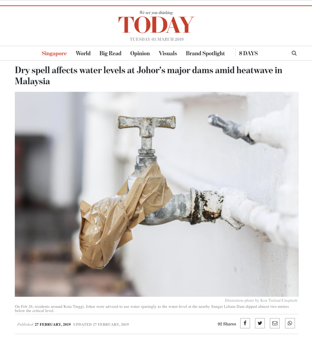 Dry spell affects water levels at Johor's major dams amid heatwave in Malaysia - Tearsheet Image -  Ken Treloar Photography.png