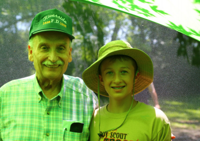 Dave Lewis (WB9HWE), and his grandson Matt