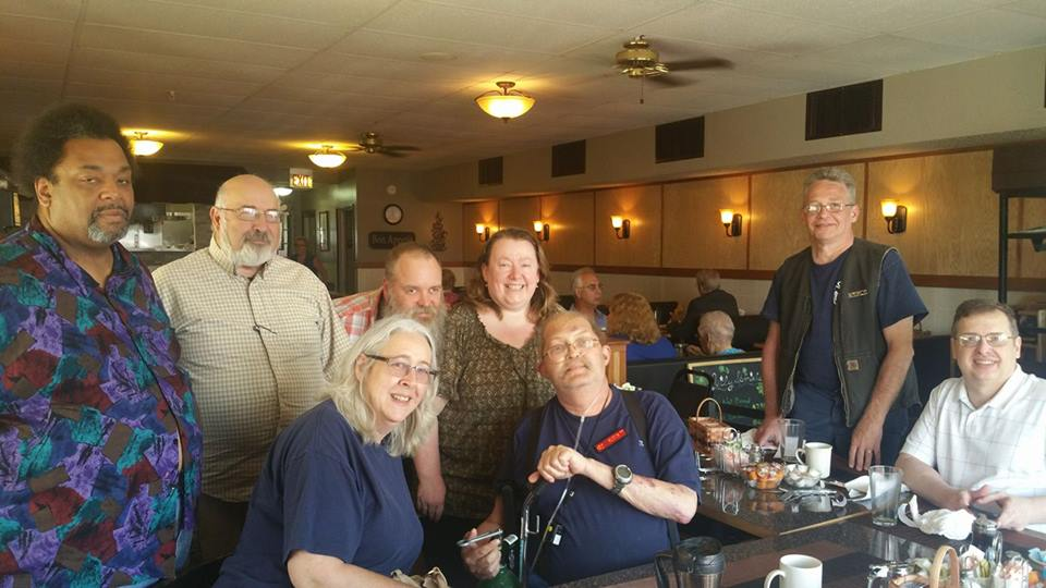 Kelvin, Mel, Kathy, John, Laura, Jim C., Mike, Jim Z. (When we take over a restaurant, we REALLY take over a restaurant. Hi Hi)