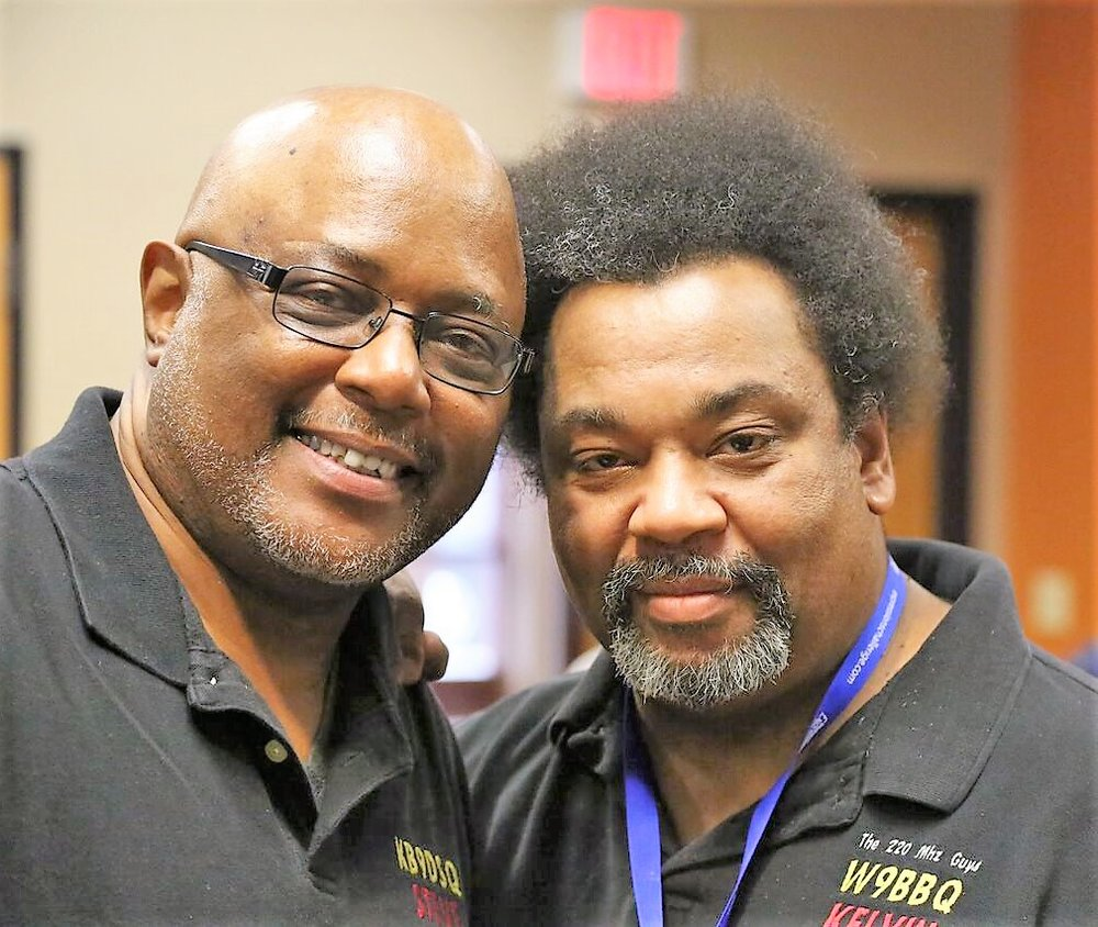 Steven Hill, KB9DSQ and  Kelvin Jackson, W9BBQ - The 220 MHz Guys Vice President and President, respectively.