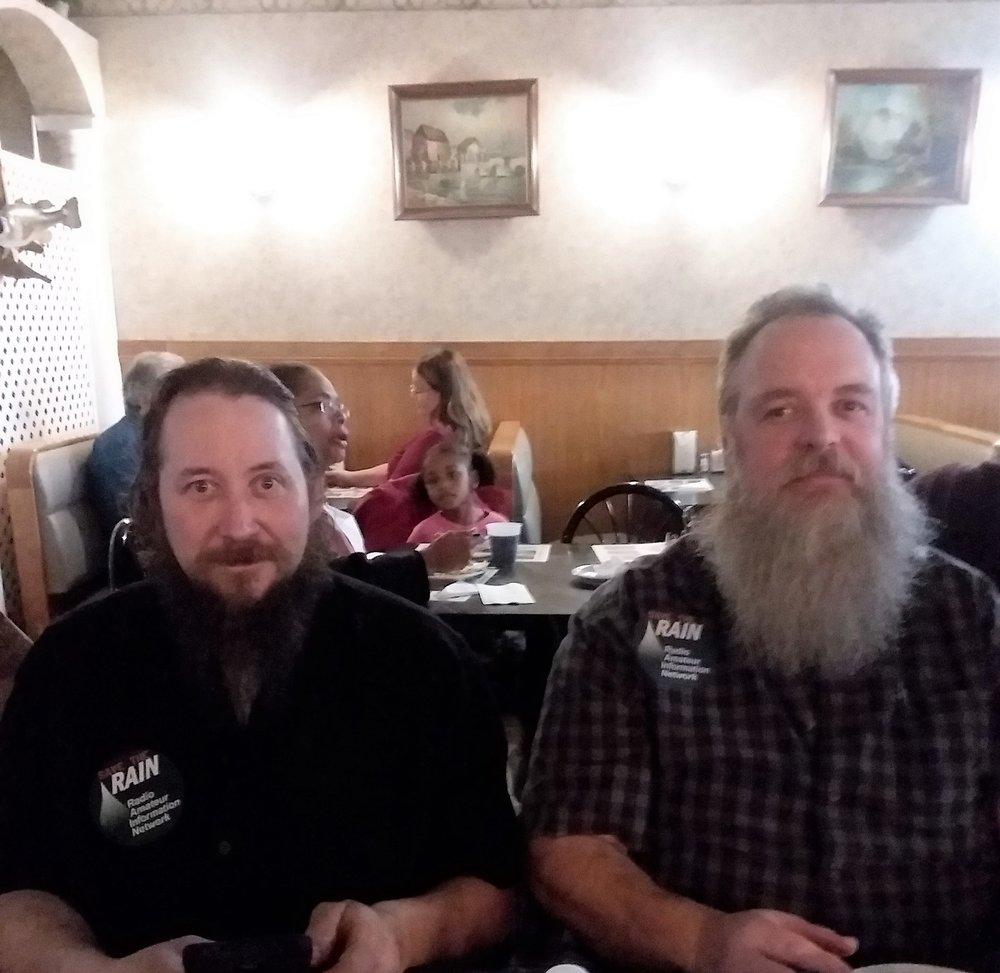 Brian (KD9EOL), producer of the Nightcrawlers net, and John (KD9BYW), the Voice of the Nightcrawlers