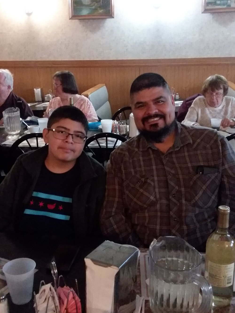Victor and his Dad, Orlando (KD9EVC)