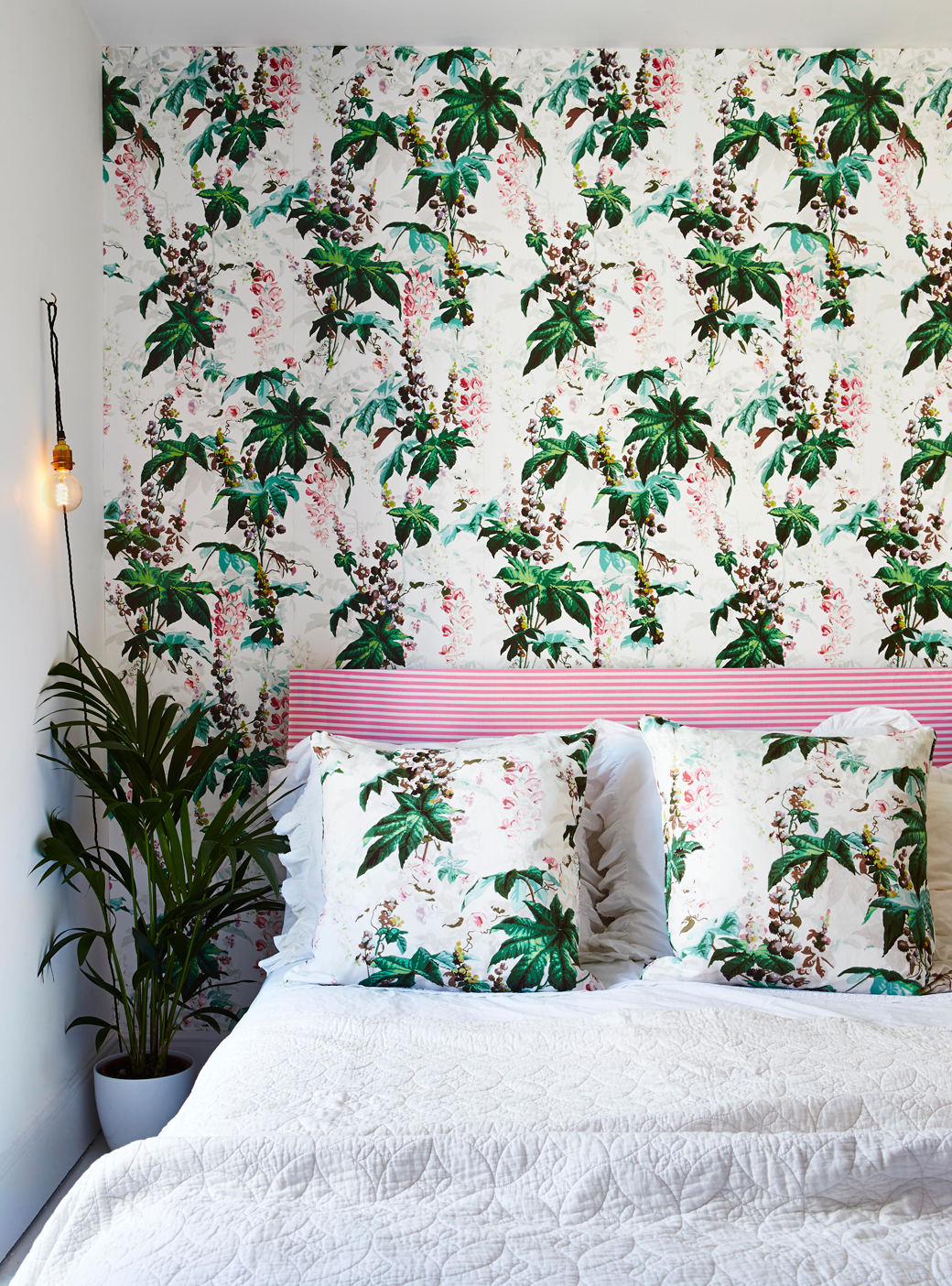 7 easy ways to create botanical style at home decor8 for Where can i get wallpaper for my room