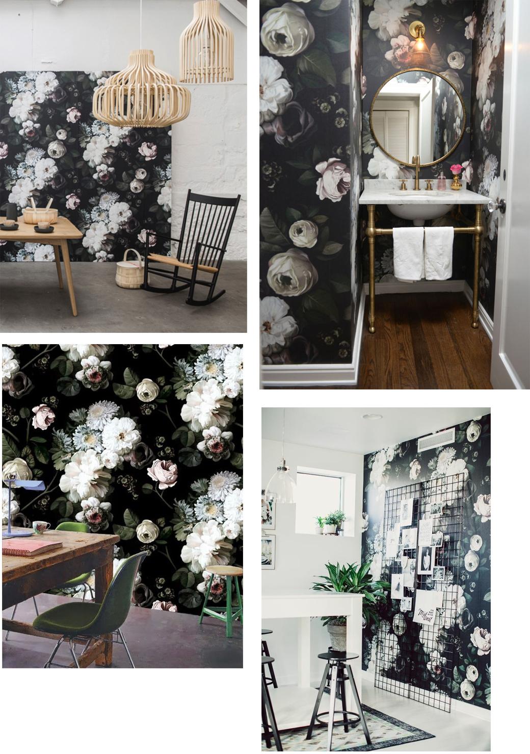 Black floral print wallpaper dark floral wallpaper by ellie cashman - Top L Ellie Cashman Top R Cupcakes And Cashmere Bottom L Ellie Cashman Bottom R Pinterest