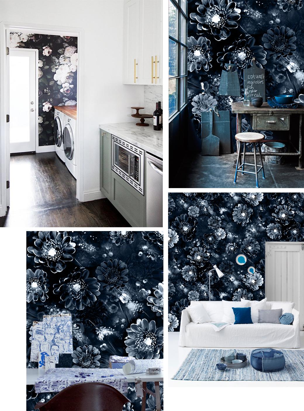 Black floral print wallpaper dark floral wallpaper by ellie cashman - All Others Ellie Cashman Rps1833_nikki_sitroom02_01_lowres