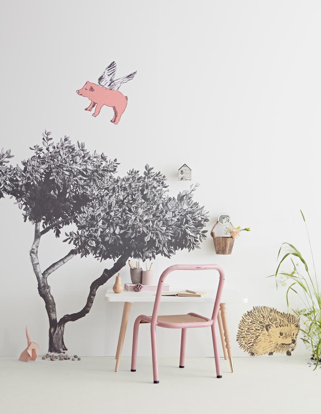 nature inspired wallpaper wall stickers decor8 so many sweet spaces where you could apply sian s creative papers and stickers my favorite is the tree and the teepee space it s something i think my