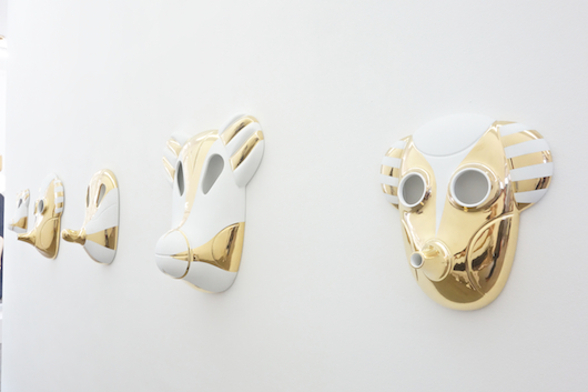yellow metal  - Maskhayon by Jaime Hayon for Bosa