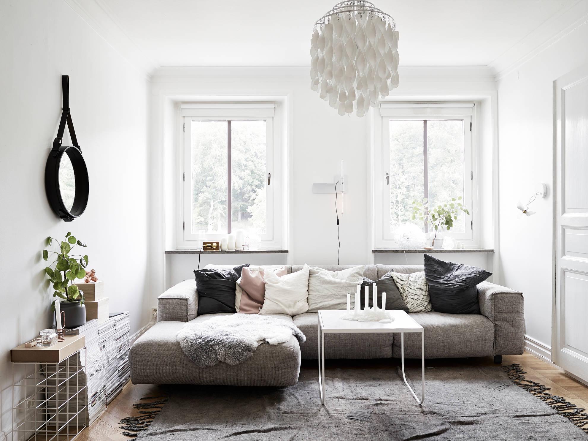 Home tour tiny stylish scandinavian apartment