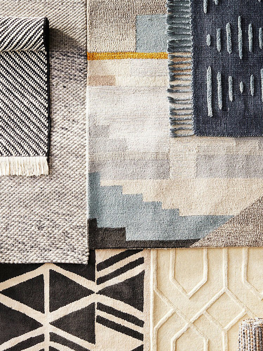 A mix of rugs from the collection - beautiful!