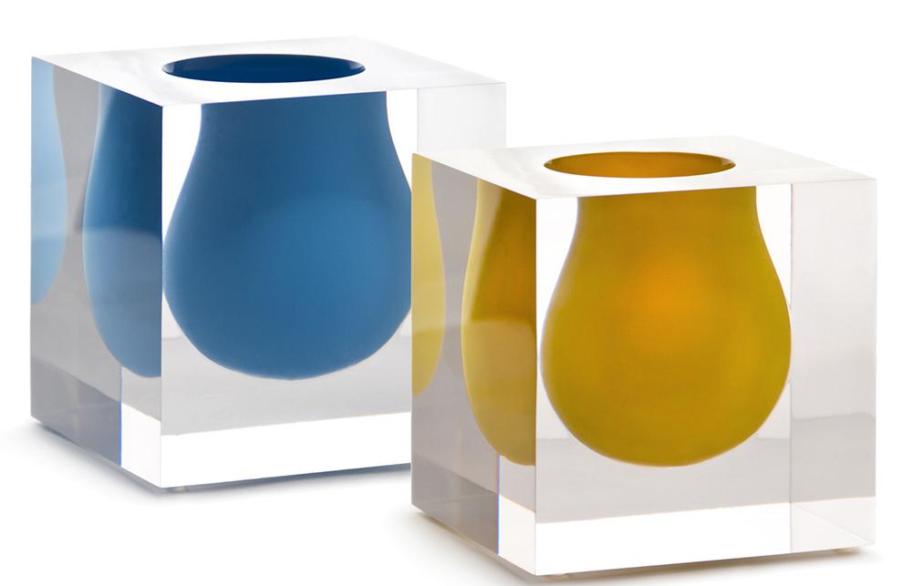 Jonathan Adler - Bel Air mini scoop vases yellow, turquoise - Portrait.jpg