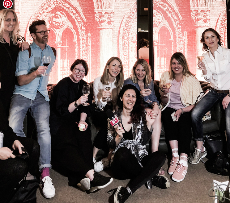 From left to right:  Desiree ,  Stefan ,  Mary,   Agata ,  Niki , Me,  Ulla  and seated on the   floor  , Francesca Russo from Design Diffusion, our fearless leader (  along with Chiara Omboni, not shown ).