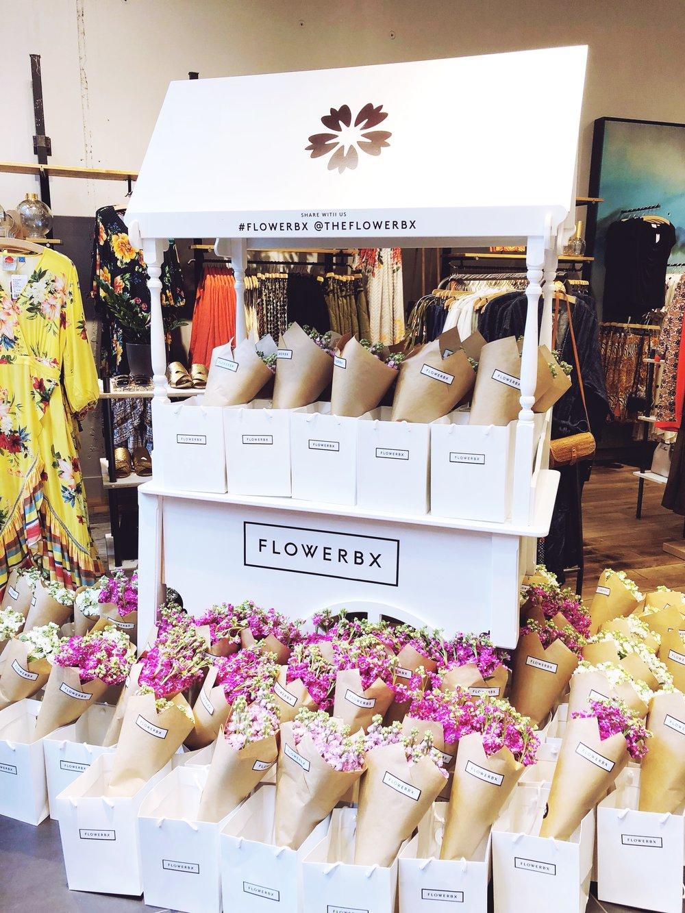 FLOWERBX Germany pop-up at Anthropologie Düsseldorf