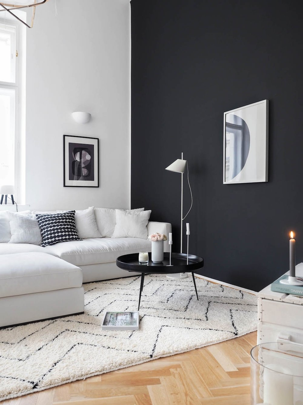 "Wall Color: ""Off Black"" from  Farrow&Ball ."