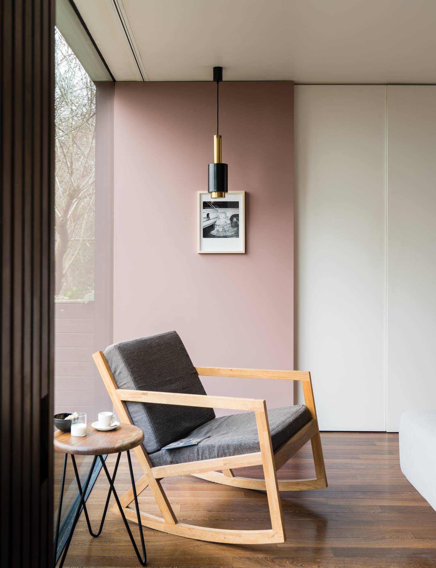 Modern Country Style Colour Case Study: Farrow and Ball Sulking Room Pink