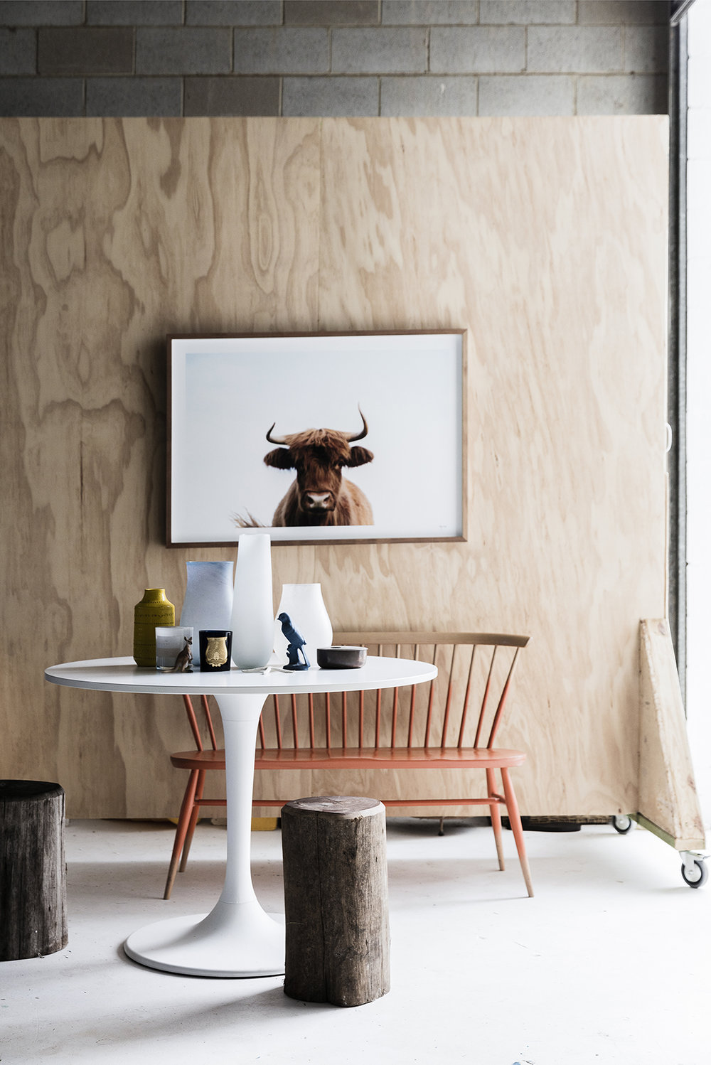 Tour the home of stylist Jason Grant on cattledogs.info
