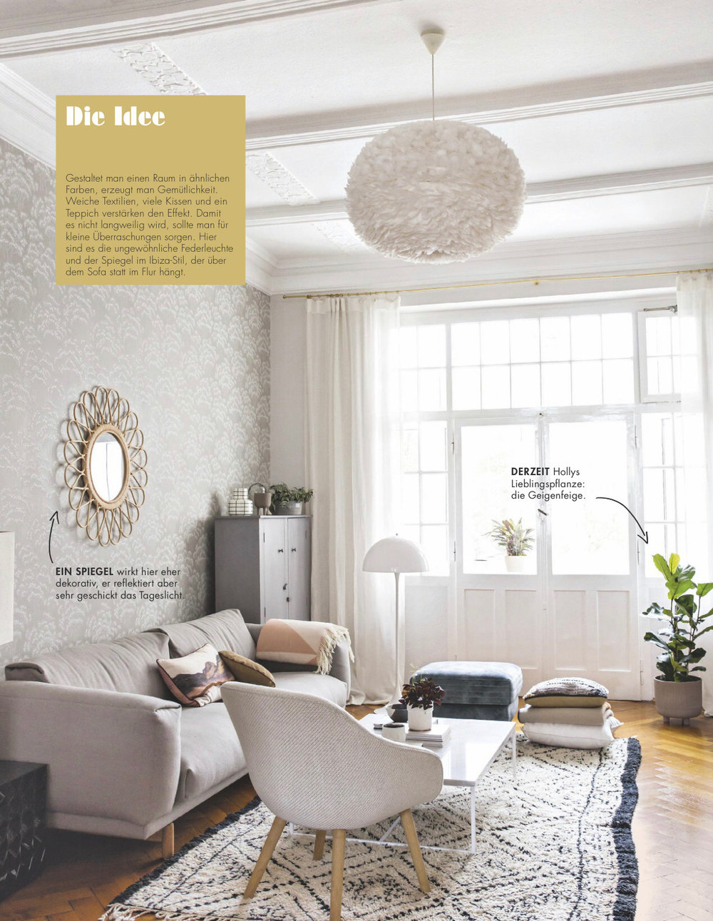 Holly Becker Living Room from Living at Home + Holly magazine