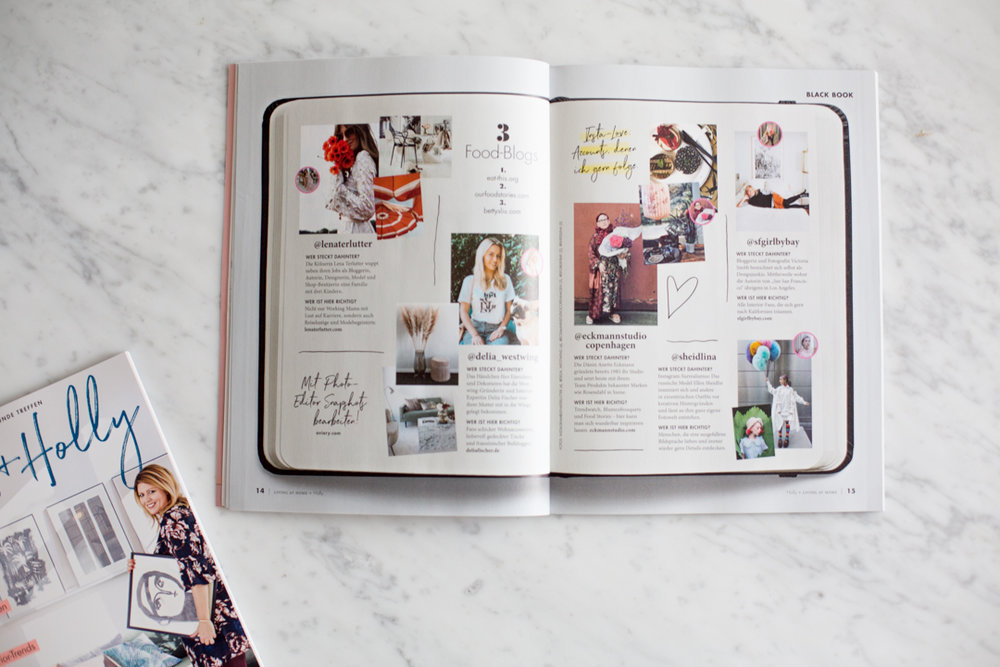 The magazine will have my LITTLE BLACK BOOK with its pages spread throughout each issue. These pages contain personal notes and things I find and the people I am inspired by that I want you to know about, too.