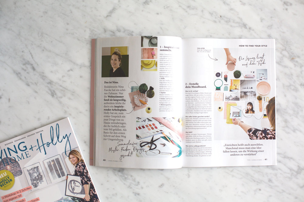 """In each issue, I will have my own column where you will meet a client of mine and I'll show you how I """"solved"""" their problem. For the first issue, we helped a single career woman find her style at home."""