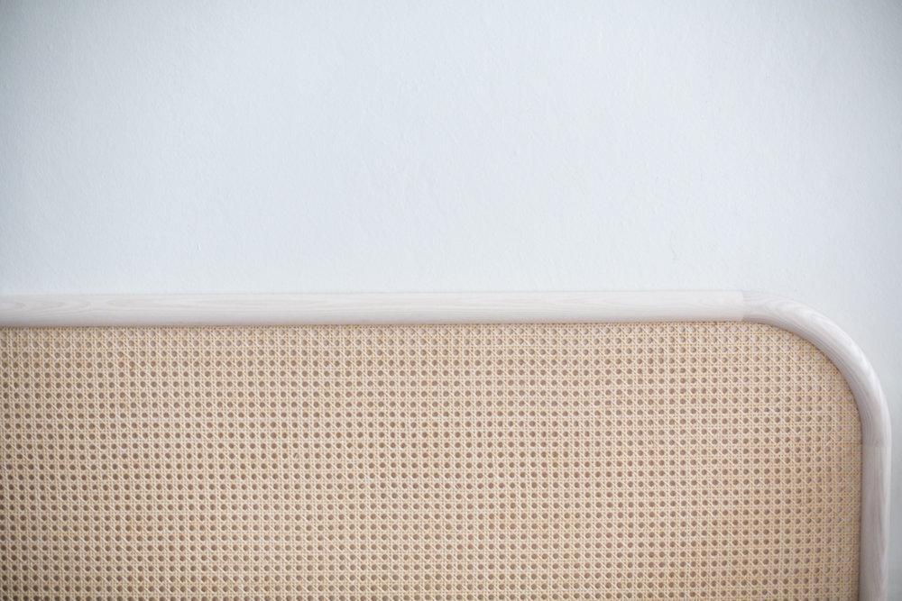 LEMPI headboard, rattan, by MATRI