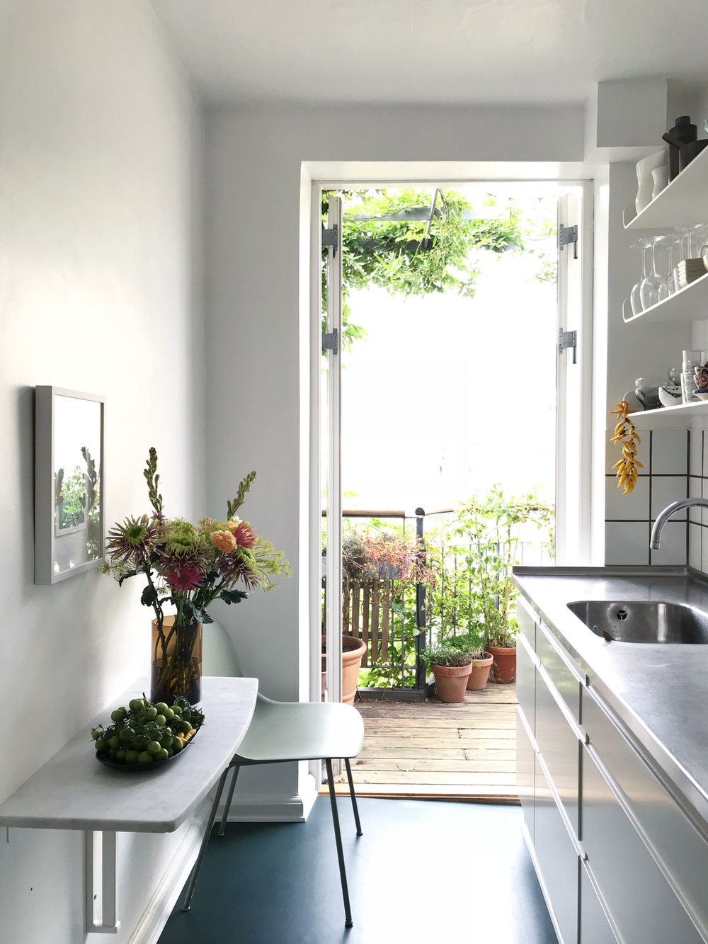 Kitchen and balcony view