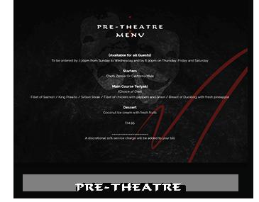 Pre-Theatre Menu