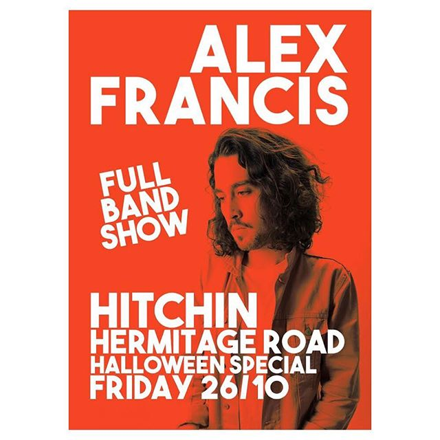 Hitchin! Can't to be back in ya 26.10 at @hermitagerd 👻 It's gonna get SPOOKY. Be there ✌️ Tickets are on sale NOW 👇  Call the local box office for yours: 01462 433603