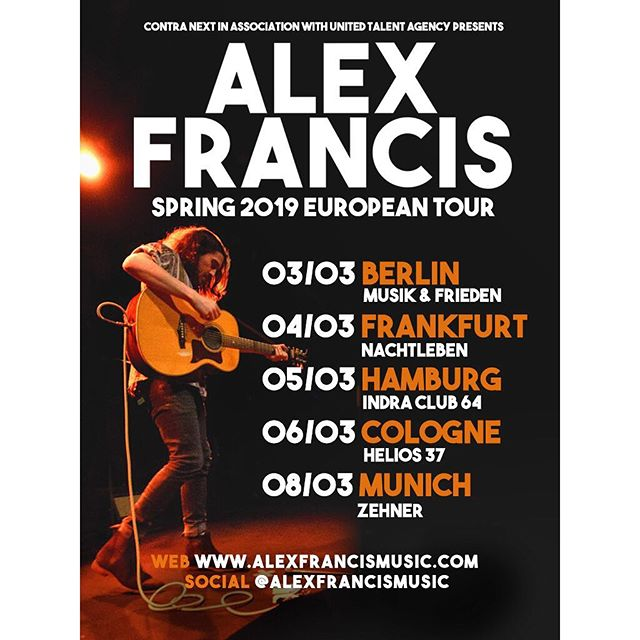 NEWS ONE DAY EARLY! Absolutely THRILLED to announce my first headline shows in #Germany next Spring 🍻🇩🇪👌🔥👹 WHO'S JOINING?! Pre sale tickets in my description        #tourlife #germany #vursttime #newmusic #Berlin #Munich #Frankfurt #Cologne #Hamburg #2019