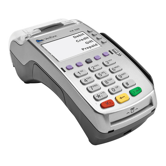 Vx520 point of sale terminal
