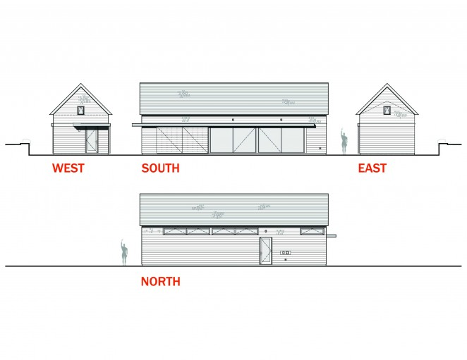 Barn Studio Exterior Elevations