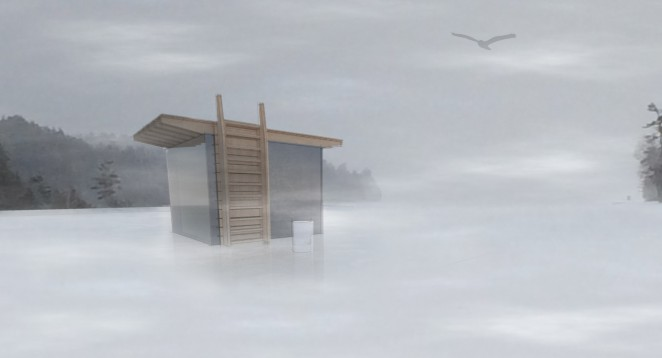 Modern Ice Hut rendering