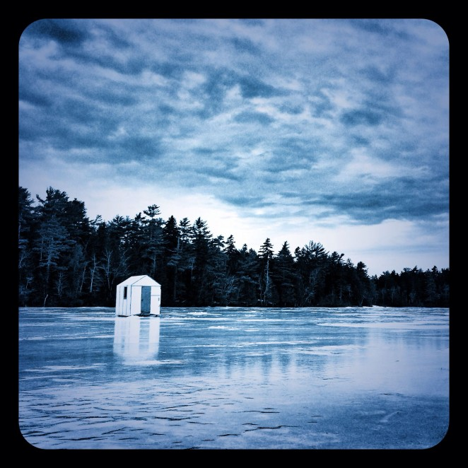 Ice Hut photograph Somes Pond - Eric Reinholdt