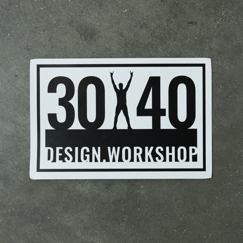 30X40 Logo Architect Arms Raised, Die-Cut Sticker