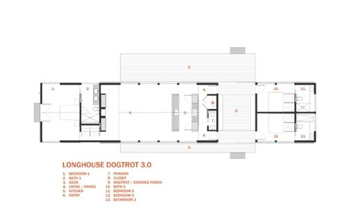 longhouse dogtrot 3.0 (schematic) | 30x40 design workshop