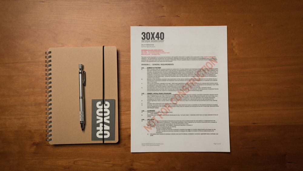 30X40's Outline Specification Template